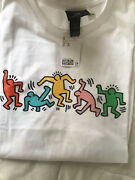 Keith Haring Handm White Relaxed Fit T Shirt Size Xl Sold Out Online Nwt New