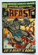 Amazing Adventures 11. 1st Appearance Of The Beast Marvel 1972 Bronze Age.