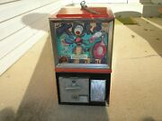 Victor 77 Vending Toy Machine With Display Card Vintage Rare Gumball Prize