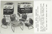 1950and039s Retro Metal Dollhouse Furniture Advertising - Rppc Chicago Ill Postcard