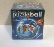 60 Piece 3d Christmas Ornament Puzzle Ball By Ravensburger 2006 - New/sealed