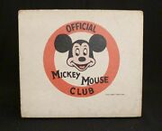The Lionel Toy Corporation Micky Mouse Club Record Player Model 42015 Red White