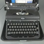 Stunning Royal Quiet Deluxe Typewriter With Magic Margin, Manual And Org. Case