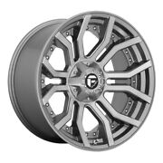 Fuel D713 Rage 22x10 8x165.1 Offset -18 Brushed Gunmetal Tinted Clear Qty Of 4