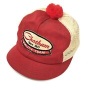 Vintage Chatham Quilty Team Patch Mesh Trucker Hat Farmer Ag Seed Usa Made V