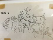 Original Pen Ink Drawing Fs Frederick S Church Study Of Patriotic Winged Victory