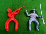 Vintage Cowboy And Indian Horse Riding Toy Figures Mpc Tim Mee