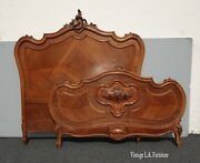 Antique French Louis Xvi Rococo Ornate Full Bed Frame Full Headboard 2