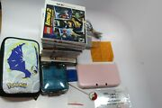 Nintendo 3ds Xl Pink And White W Storage Cases 11 Games Working