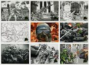 2013 Topps Mars Attacks Invasion Concept Art Parallel Chase Card Part Set 57/58