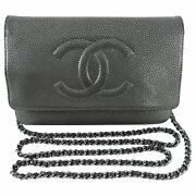 Pewter Caviar Timeless Classic Wallet On Chain Woc