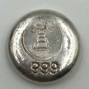 Vintage Chinese Silver 1.2 Ounces Of .999 Round