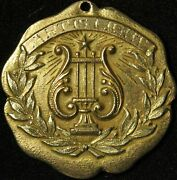 14k Gold Medal - Awarded To Lily Pons By Helen Keller In 1938 - Unique