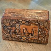 Fine Antique Wooden Snuff Box Antique Treen Collectible Boxes