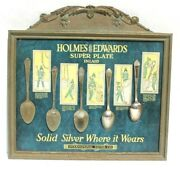 Vtg 1900's Holmes And Edwards Silver Plated Flatware In Store Advertising Display
