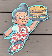 Boband039s Big Boy Retro Style Embossed Metal Wall Hanging Sign Advertising 13 New