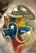 Nwt Christopher Radko Christmas 4th Of July Ornament Title Andlsquotexas Prideandrsquo Nwt