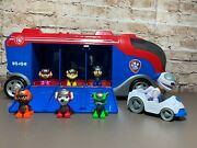 Spin Master Paw Patrol Mission Cruiser Sounds 6 Figures Robo-dog + Car See Video