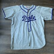 Vintage 50andrsquos Dale Baseball Jersey Rawlings Hall Of Fame Flannel Wallys Club 10