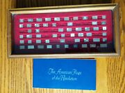 Franklin Mint American Flags Of Revolution Mini Ingot 54 Piece Collection Silver