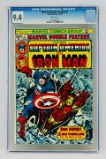 Marvel Double Feature 1 Cgc 9.4 White Pages Iron Man Captain America Nm Grail