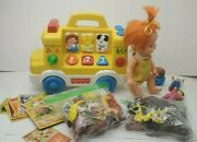 Vtg Junk Drawer Lot - Reseller 215 Play Toy Fisher Price Animals Ideal Cowboys