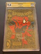 Spider-man 1990 1 Gold Cgc 9.6 Nm+ Signed Todd Mcfarlane White Pages 2nd Print