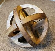 Hand-made Carved Wood Sequential Puzzle Box / Orb Artist Unknown