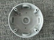4 Inch Round 5 Holes 1/2 In Grey Metal Electrical Outlet Box