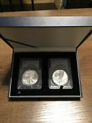 2013-w Silver Eagle 2-coin West Point Set Pcgs First Strike Pr70 And Ms70