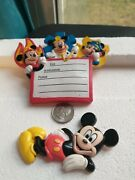 Vintage Disney Mickey Mouse Refrigerator Magnets Two Magnets
