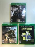 Xbox Action Lot - Ryse Son Of Rome Fallout 4 And Titanfall 2 - 3 Games Read Plz