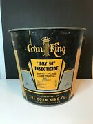 Vintage Corn King Dry 50 Insecticide Galvanized Steel Pail