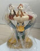 Disney Donald And Chip And Dale Figure Flower Stand Ornament Seto Craft Japan
