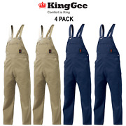 Kinggee 4 Pack Bib And Brace Drill Overall Classic Adjustable Strap Work K02010
