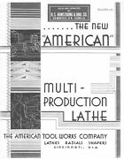 1933 American Multi-production Pacemaker Lathe Radials Shapers Brochure 445