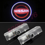 4pcs Red Led Door Laser Projector Puddle Lights Hd For Nissan Altima Quest Titan