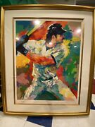 Leroy Neiman Mike Piazza Le Serigraph - Signed By Piazza A.p. 55/85/425
