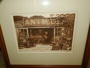 Scott Fitzgerald Victorian Antiques Etching Limited Edition 35/150 Signed Art