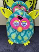Hasbro Furby Boom Figure Blue And Green Peacock Interactive Talking Toy 2012 Works