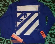 Virgil Abloh Mca Off-white Figures Of Speech Hoodie Rare Sold Out Size Xs Blue