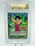 Bgs 10 Broly Dawn Of The Rampage Level 2 Judge Promo Card Dragon Ball Super Dbs