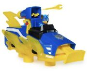 Paw Patrol Mighty Pups Charged Up Chase Transforming Deluxe Vehicle Preschoo...
