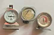 Vtg Window Outdoor Thermometer Oven And Freezer Thermometer