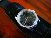 Collectible Rare Swiss Antique Stainless Steel Movado Wrist Watch - Working