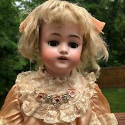 Antique Kestner 168 Doll Bisque Head And Compo Bj Body Sleep Eye 20 No Repairs