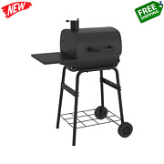 Barrel Charcoal Grill With Side Shelf In Black 17.5 In. - Nexgrill