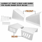 For 13-19 Polaris Ranger Xp 900 Andranger 1000 Front And Rear A-arm Guards Skid 1/8