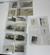 Lot Of Old Vintage Rare Original Early Aviation Photos And Postcards