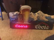 Vintage Coors Beer Digital Led Scrolling Sign Great Condition Rare Man Cave